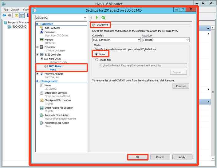 ShadowProtect - Recover a UEFI/GPT Virtual Machine – Axcient