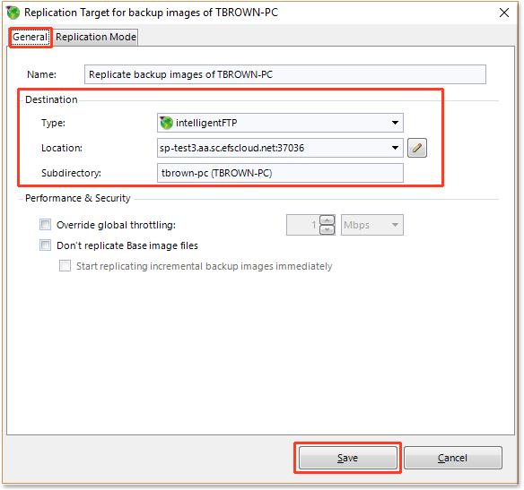 configure ftps settings efolder