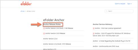 Anchor - Tracking Anchor Product Releases and Service
