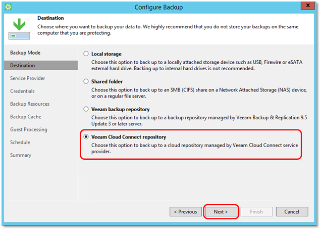 Veeam - How to Back Up Directly to the Axcient Cloud [Veeam® Agent