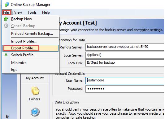 Backup for Files - Online Backup Manager Backup Process